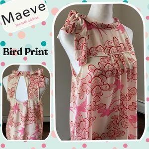 Maeve Anthropology Sz 6 Blouse Top sleeveless Bird